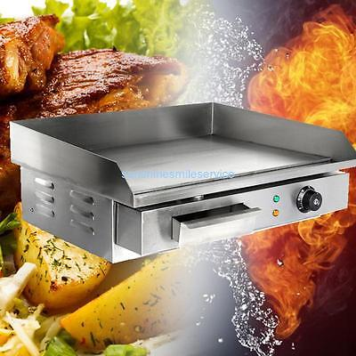 3000W Commercial Electric Griddle Beefsteak 55cm Hot Plate Grill 50-300°C CE