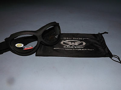 Big Ben Motorcycle Goggles Anti Fog/Shatter Proof