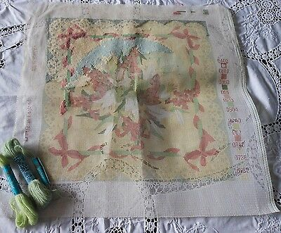 Lovely Pastel Tapestry Kit Cushion Front Flowers/ Lilies Ehrmann/glorafilia???