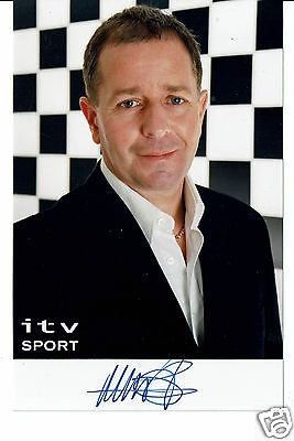 Martin Brundle Racing Driver Television Presenter Hand Signed Photograph 6 x 4