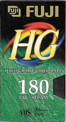 BLANK Factory sealed VHS video tape PAL SECAM FUJI HG E-180 3 hours high grade