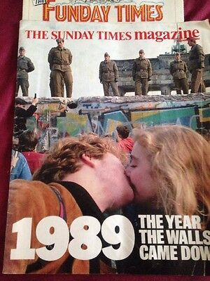 1989 The Sunday Times Magazine Plus The Funday Times Berlin Wall Germany