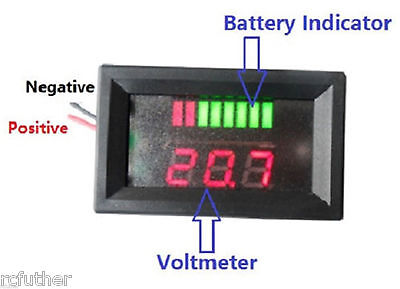 48V Charge Voltmeter Acid Lead Battery Indicator,EZGO Club Car Golf Cart yamaha