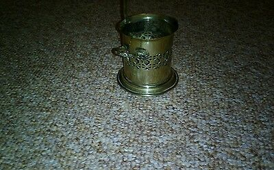 Silver Plated pierced 2 Handled   Square Pot / Holder / Carrier