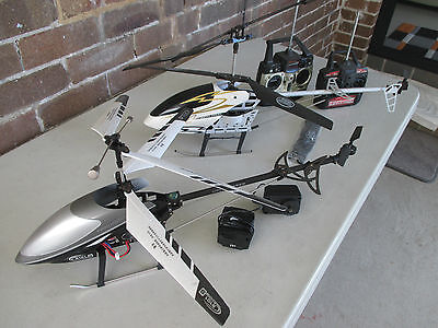 2 x 68cm RC Helicopters working - sold as PARTS