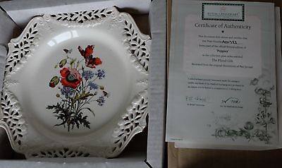 """""""the Floral Gift"""" Poppies  Plate By Royal Creamware, Limited Edition"""