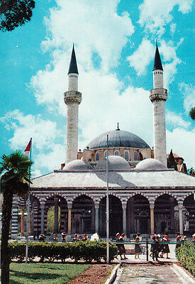 Middle East Syria Damascus Sultan Selim Mosque postcard with stamps