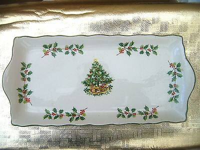 James Kent  Staffordshire Trinket Dish  Regal 10. Depicts Christmas Tree & Holly