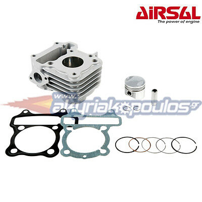 Airsal Cylinder Kit For Sym Mio 50, Fiddel Ii,symphony,peugeot Speedfight Iii