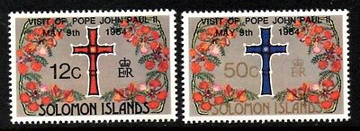(Ref-9338) Soloman Islands 1984 Visit of Pope John Paul II SG.517/518 Mint (MNH)
