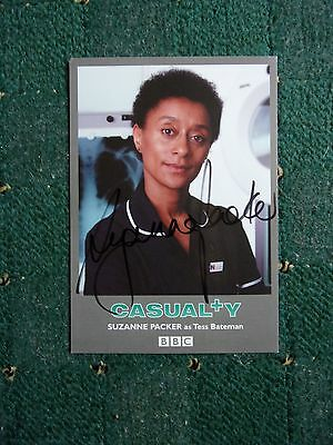 Signed Suzanne Packer From Casualty Cast Card