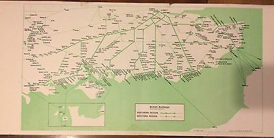 British Railways Southern Region Carriage Panel Route Diagram