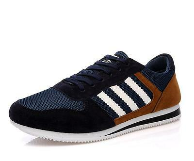 Fashion England Canvas Men's Breathable Recreational Shoes Casual Shoes Blue 40