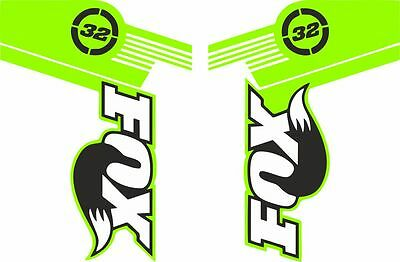 FOX 32 Forks Suspension Factory Style Decal Kit Sticker Adhesive Set Yellow