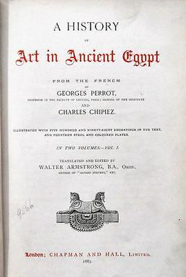 A History of Art in Ancient Egypt 2 Vols, 1883, Perrot & Chipiez, ILLUSTRATED