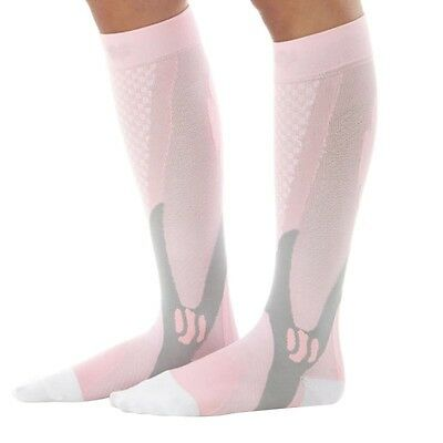 Pink Compression Socks - muscle support for runners running gym cross fit sport