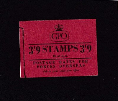 3/9d Booklet Oct 1955 G9  Complete. Good clean condition