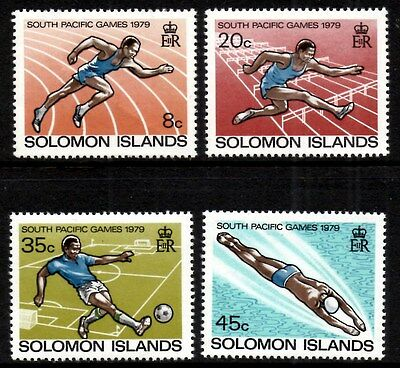 (Ref-9343) Soloman Islands 1979 South Pacific Games  Fiji  SG.380/383 Mint (MNH)