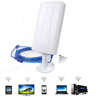 WiFi Outdoor 2.4Ghz Antenna Aerial Signal Booster Laptop Computer USB Powered