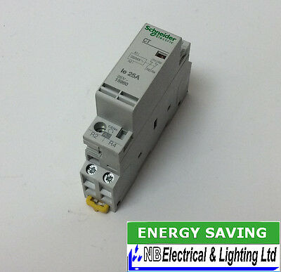 Schneider 25A Contactor 230V Coil N/closed Contact 1 Module To Clear (S150)