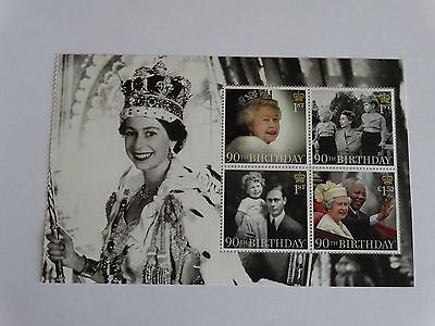 QE II 90th birtday stamps from prestige booklet