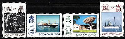 (Ref-9344) Soloman Islands 1988 Lloyds of London 300th Anniversary   Mint (MNH)