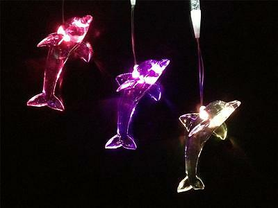 Dolphin 3 Drop LED Night Light Hanging Mobile Lamp with Colour Changing Lights
