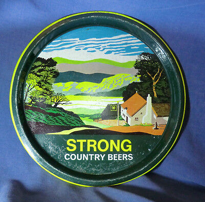 Thomas Strong Country Beer Tin Tray England Hancock Corfield Waller