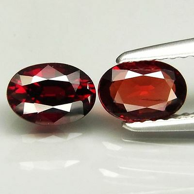 1.40Ct.100%natural Red Spinel Oval Facet 6.5X4.5Mm.2Pcs.