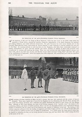 1900 ANTIQUE PRINT-BOER WAR-47th (FORTRESS) COMPANY ROYAL ENGINEERS