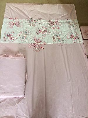 Girls Pink Bed Set And Curtains From Next