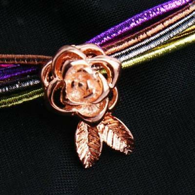 1pc 18K Gold Plated Rose Magnetic Clasp Buckle Findings