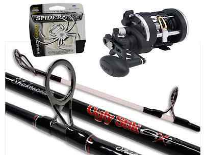 Shakespeare Ugly Stix 7ft 30-50lb 2pc Boat Combo With Penn Rival 30LW