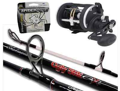 Shakespeare Ugly Stik 7ft 9 12-20lb 2pc Boat Combo With Penn Rival 15LW