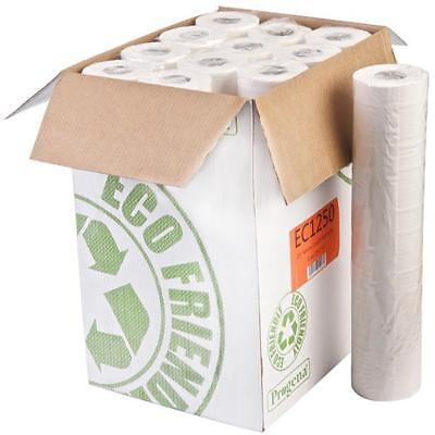 """Progena Eco-Friendly White 20"""" Couch Roll - 12 rolls - 50m"""