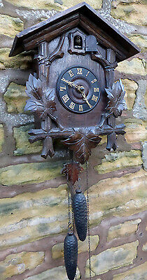 "Victorian ""fully Restored"" Black Forest Carved Cuckoo Clock ..""complete"""
