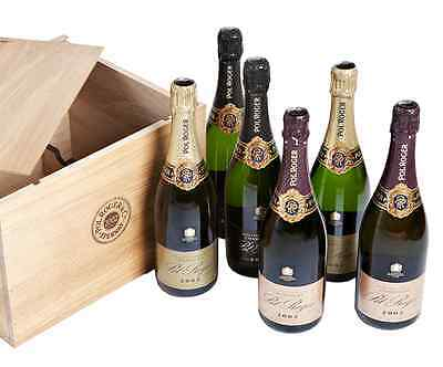 The Pol Roger Vintage 2002 Collection - Wooden Case of 6 x 75cl