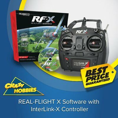 REAL-FLIGHT X Software with InterLink-X Controller #GPM-Z4540 CRAZY HOBBIES