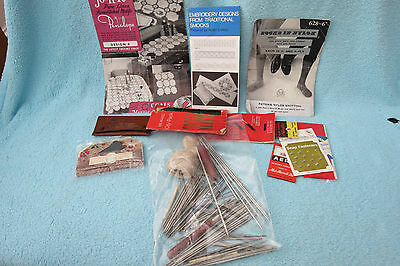 Large Collection Of Crochet, Lace, Embroidery, Etc Tools And Accessories