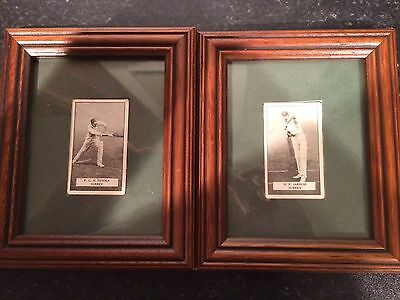 Two Framed Cigarette Cards - Gallaher Ltd: Famous Cricketers - Surrey CCC