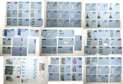 80 x Used Stationery Air Letter Sheets, Aerogrammes. First Day Issue, etc