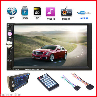 """7"""" 2 Din Bluetooth Touch Screen Auto Radio Stereo Audio MP5 Player FM USB SD AUX"""