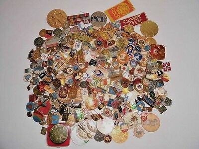 Large collection Soviet Russian Pins Badges USSR 550 pcs.