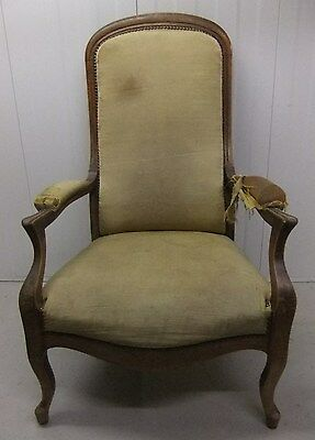 Antique French Arm Chair / Antique French Library Chair Upholstery Project