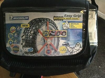Michelin 2x Easy Grip Snow Chains J3 Size