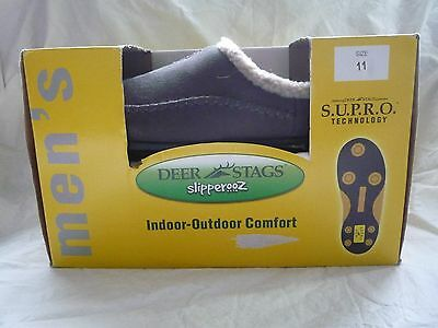 New Men's Deer Stags Scuff Slippers -Size 11 Gray