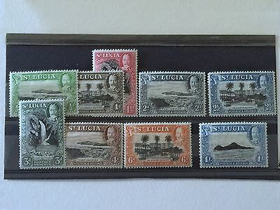 ST LUCIA 1936 MINT 9 STAMPS 1/2d to 1/-.