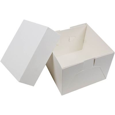 Hobbycraft 6 Inch Cardboard Cake Box With Lid Carry Container Birthday Wedding