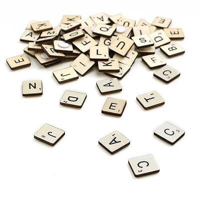 Hobbycraft Wooden Letter Tiles 114 Pieces Craft Scrabble Embellishments Toppers