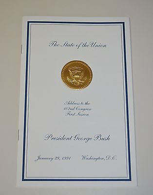 "GEORGE H.W. BUSH [Sr.] 1991 ""STATE OF THE UNION  ADDRESS""~VIP EDITION/MINT"
